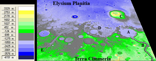 Digital Elevation Model of Gusev Crater Maadim Vallis and the surrounding area.