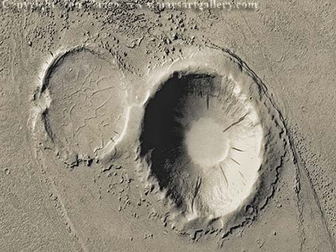 Mars Martes Valles Double Crater