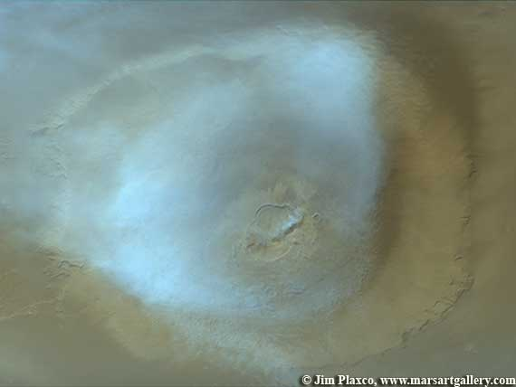 Clouds Over Olympus Mons